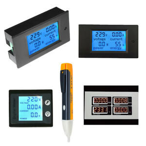 0-100A-LCD-Volt-Current-Watt-Kwh-Meter-Power-Energy-Ammeter-Voltmeter-AC-80-260V