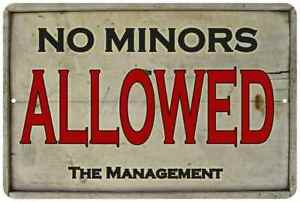 Allowed 108120020018 Sign Vintage Metal Minors Ebay Look No Chic