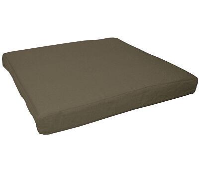 aa200t Army Green Cotton Canvas 3D Box Sofa Seat Cushion Cover*Custom Size*