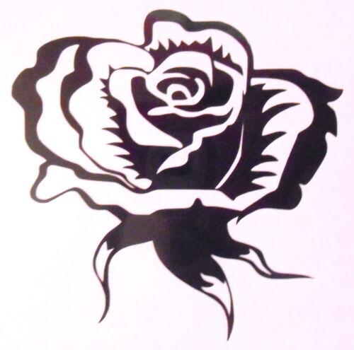 6 Fantaisie Rose carrelage mural fenêtre Autocollants//décalques//transferts Facile Appliquer À faire soi-même