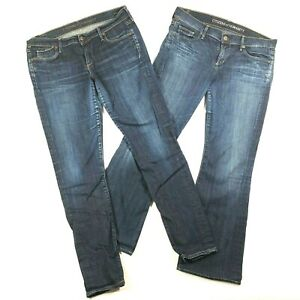 Lot-of-2-Citizens-of-Humanity-Womens-31-32-Jeans-Avedon-Low-Rise-Skinny-Flared