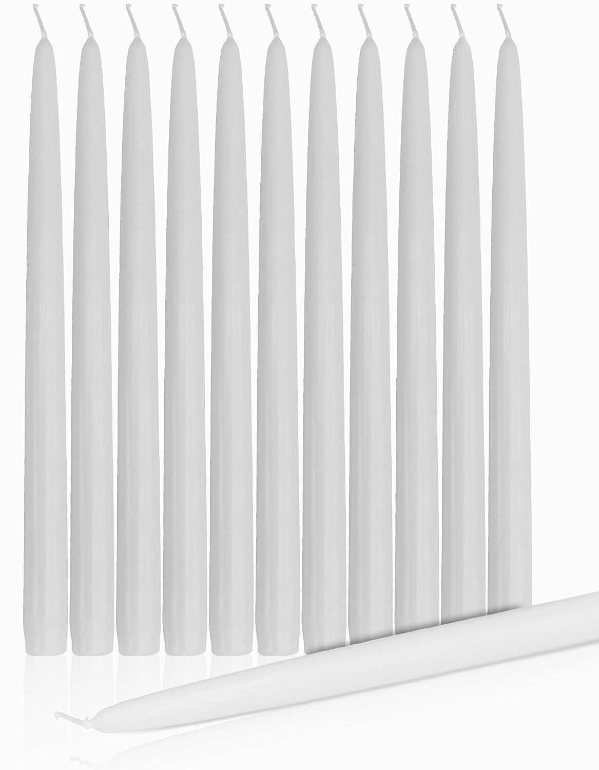10 Inch white Smoke Free Dripless Taper Candle case of 100 Buy Bulk & save BIG