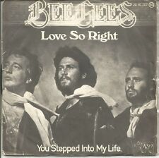 BEE GEES-LOVE SO RIGHT + YOU STEPPED INTO MY LIFE SINGLE VINILO 1976 SPAIN