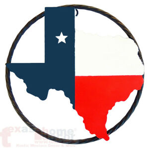 Image Is Loading 9 034 Western Rustic Texas Map Outline Flag