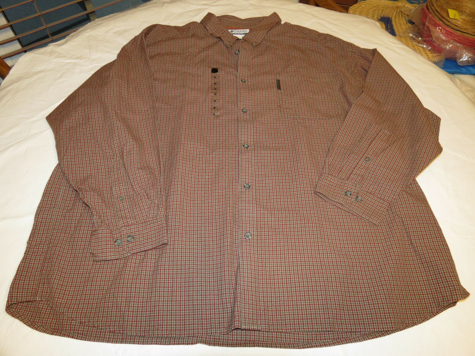 Mens Columbia Sportswear 4X AX7380-640 long sleeve button up shirt casual NWT@