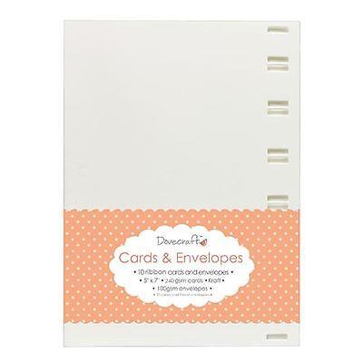 "8x Silver Metallic 6/""x6/"" Quality Grade Kraft Card Blanks Dovecraft Envelopes"
