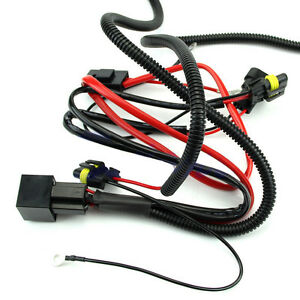 xenon hid light relay wiring harness set h1 h3 h4 h7 h8 h9 h11 9006 image is loading xenon hid light relay wiring harness set h1