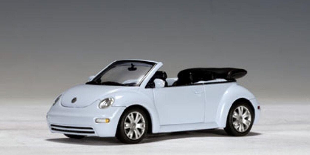 VW VOLKSWAGEN NEW BEETLE CABRIOLET 2003 AQUARIUS blueE AUTOART 59752 1 43 blue