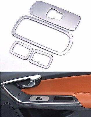 Stainless Steel Door Armrest Panel Decorative Cover Trim For Volvo XC60 S60 V60