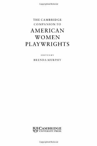 The Cambridge Companion to American Women Playwrights  Cambridge Comp