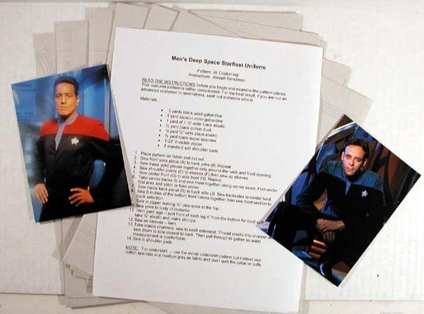 Multiple Sizes Star Trek Deep Space 9//Voyager Jumpsuit//Costume Pattern