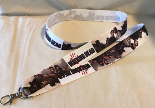 The Walking Dead Inspired #10 Lanyard Key Chain Lightweight Ribbon Hand Print