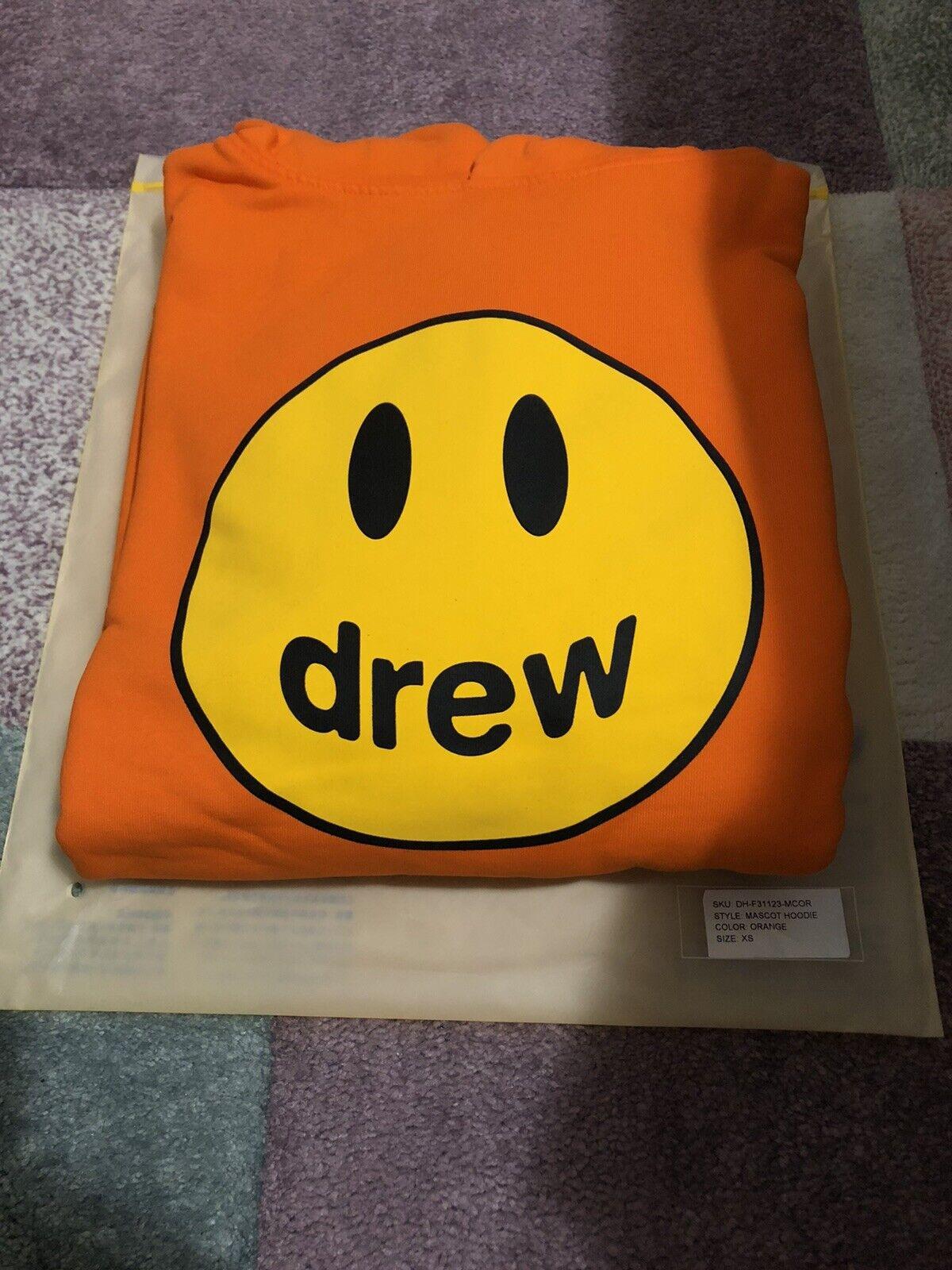 Drew House Orange Mascot Hoodie NWT XS