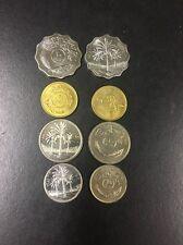 Iraq Last Coins Saddam Hussein Era+New Iraqi Dinar Coins Total (8 Coins) Irak