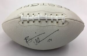 Details about Brian Urlacher #54 Promo Autograph Signed Rubber Football  Restore Hair