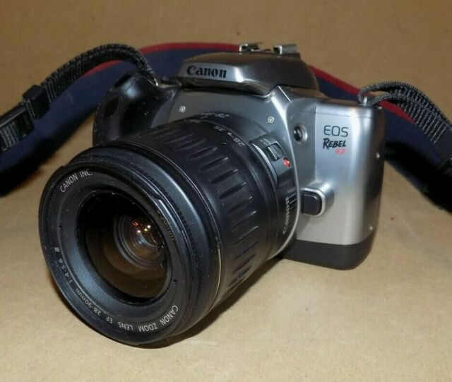 Canon Eos Rebel K2 35mm Film Slr Camera W   28