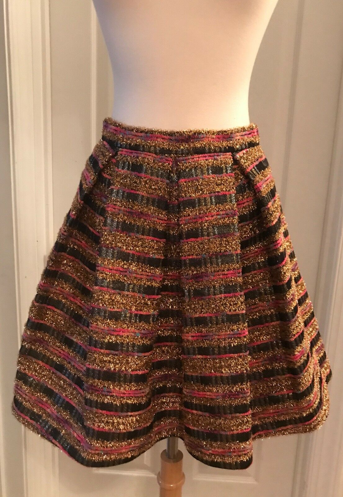 J.CREW A-LINE SKIRT SAMPLE ONE OF A KIND SIZE 0 MULTI