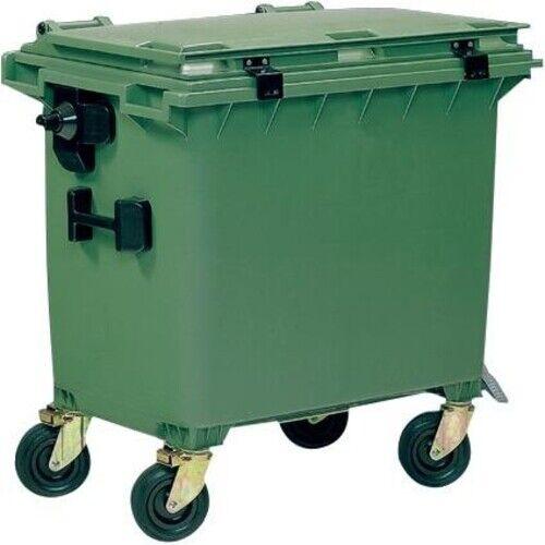 OPV Müllcontainer 660 L Kunststoff-Flachdeckel grün
