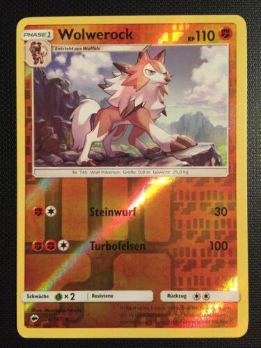 Near Mint Wolwerock Nacht In Flammen 76//147 Reverse Holo Rare DE! Pokemon!