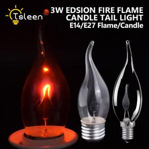 retro led edison lumi re ac220 240v 3w ampoule bougie effet de flamme vacillante ebay