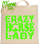 CRAZY HORSE LADY TOTE SHOPPING BAG GROOMING BAG Christmas gift mothers day funny