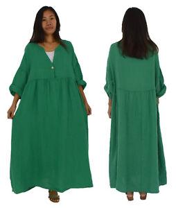 Damen kleid leinen