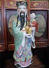 "Large Fine Porcelain Statue Sculpture Figurine Chinese Oriental Asian 20""H"