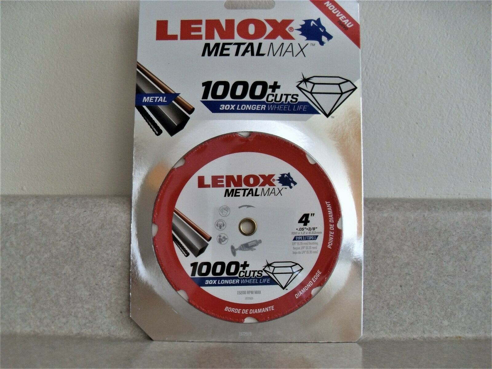 "4/"" x 3//8/"" Lenox Tools 1972919 METALMAX Diamond Edge Cutoff Wheel"