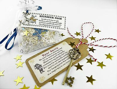 Santa's Magic Key & Magical Reindeer Food Father Christmas Eve No Chimney Oats