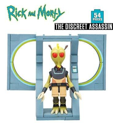 RICK AND MORTY The Discreet Assassin Construction Set 54 PCS Sealed