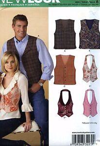 NEW-Uncut-New-Look-6839-Vest-Waistcoat-Unisex-Mens-Ladies-Women-039-s-Sewing-Pattern
