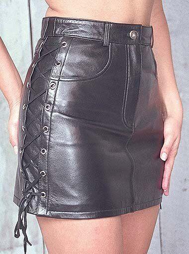 Women High Waist Genuine Lambskin Leather Mini Skirt Short Sexy Club - LTWS041