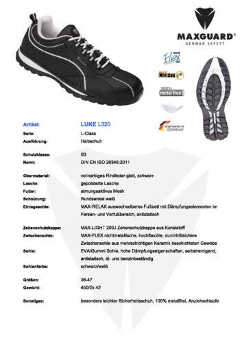 leichte Maxguard S3 Sicherheitsschuhe L320 Arbeitsschuhe Rindleder Leder