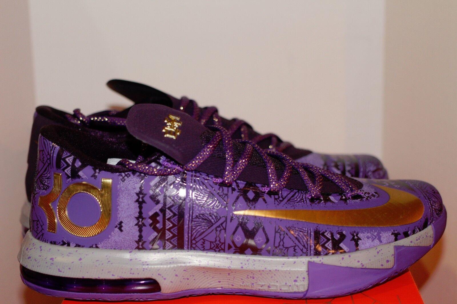 Nike KD BHM vi DS SZ 10 oro purpura purpura purpura Ravens de Baltimore Washington Huskies Lakers marca de descuento 62e333