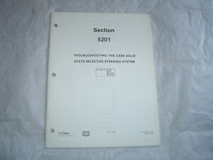 Case-tractors-solid-state-steering-system-trouble-shooting-service-manual