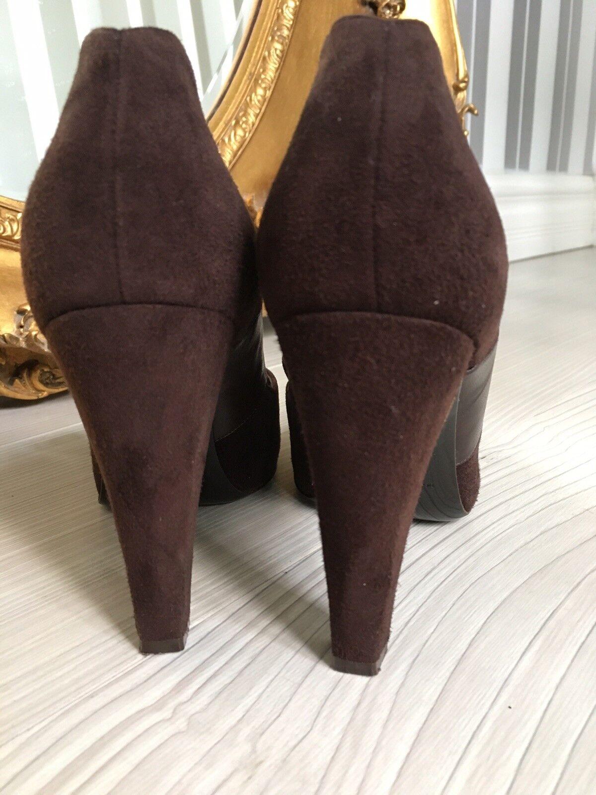 Balenciaga Balenciaga Balenciaga Brown Suede High Heels 3ab295