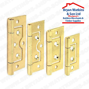 Image Is Loading Brass Flush Door Hinges For Cabinet Cupboard Toy