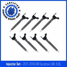 Sinister Diesel Injector Set For 2011 2016 Gm Duramax Lml 66l Set Of 8