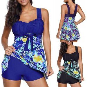 AU-Size-6-22-Women-Floral-Tankini-Sets-With-Boy-Shorts-Ladies-Swimdress-Swimsuit