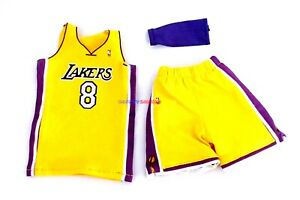Details about 1/6 NBA Los Angeles Lakers 8 Kobe Bryant Yellow Home Jersey For Enterbay Figure