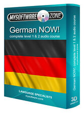 LEARN + SPEAK GERMAN NOW! COMPLETE LEVEL 1 & 2 AUDIO LANGUAGE COURSE MP3 CD GIFT