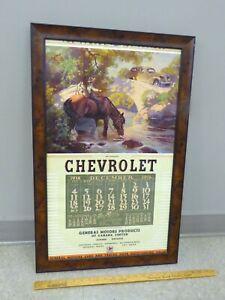 1938-CHEVROLET-Framed-Wall-Calendar-GM-CANADA-Advertising-Original