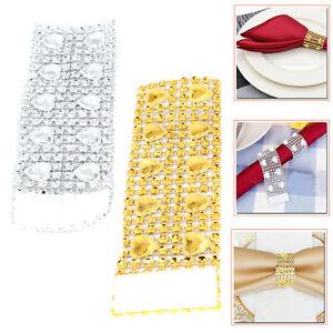 Acrylique-Coeur-Diamant-serviette-Anneaux-serviette-support-pour-mariage-Banquet-Decor