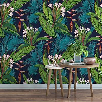 Banana leaf botanical removable wallpaper floral palm self adhesive wallpaper