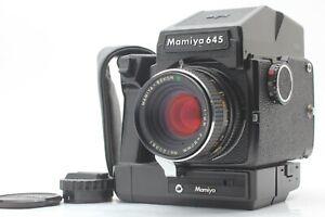 N-Nuovo-di-zecca-winder-grip-Mamiya-M645-J-SEKOR-C-80mm-f2-8-l-039-obiettivo-AE-Finder-dal-Giappone