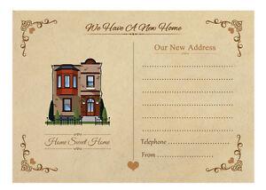 10 Vintage Change of Address Cards with envelopes