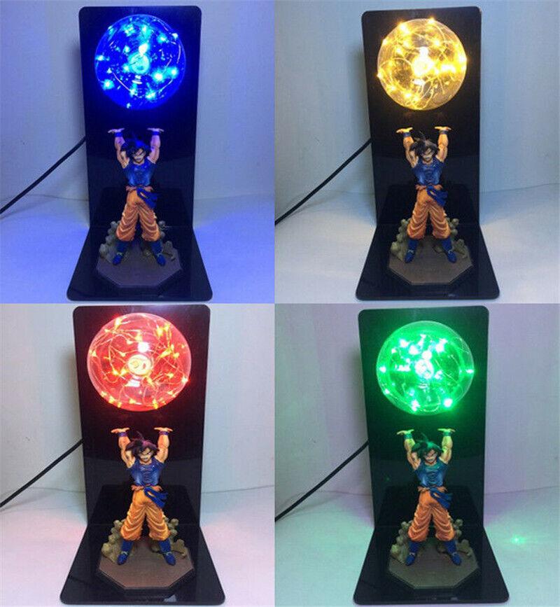New Dragon Ball Z Son Goku Light Up Spirit Bomb LED Lamp Statue Anime Figure Kit
