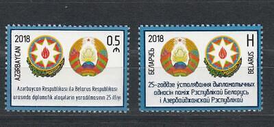 Azerbaijan Aserbaidschan Mnh** 2018 Mi.1392 Joint Issue Belarus Both Beide Einen Effekt In Richtung Klare Sicht Erzeugen