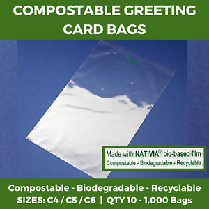 Clear-Compostable-Greeting-Card-Bags-Cello-Biodegradable-Recyclable-Display