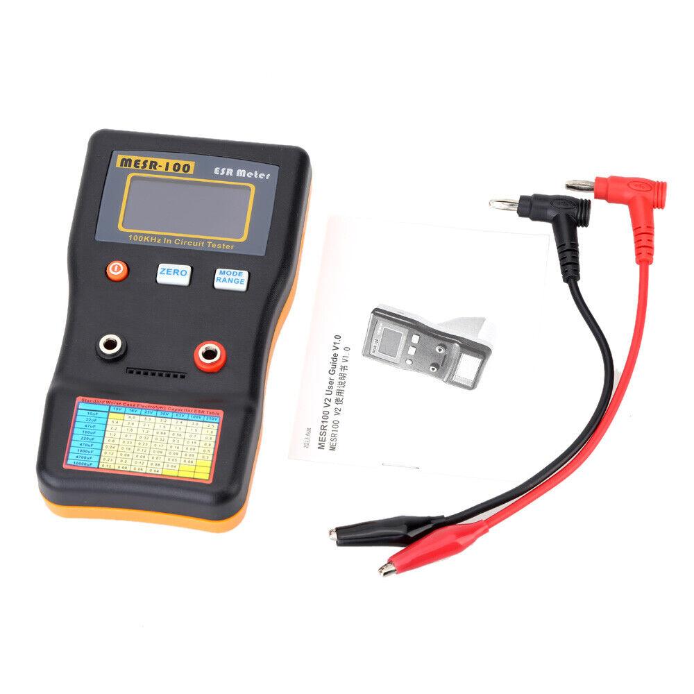 Batterie Interne Résistance Impédance Testeur Voltmètre In-Ciruit Cap ESR Meter